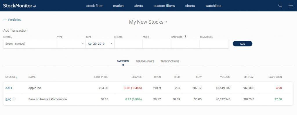 stock-portfolios